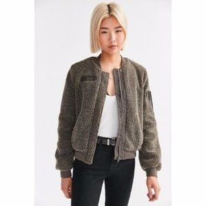 Urban Outfitters Sherpa Bomber Jacket